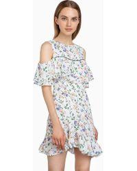 Pixie Market - Phoebe Floral Asymmetric Dress - Lyst