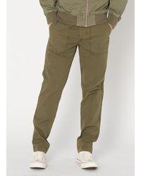 Schott Nyc Pantalon treillis en coton army kaki - Vert