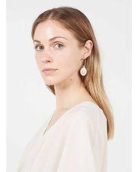 AU PRINTEMPS PARIS Boucles d'oreilles fantaisie avec pierre - Noir