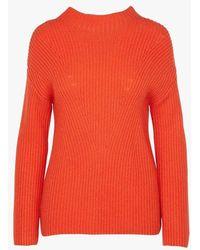 Nice Things Pull col montant en laine mélangée - Orange