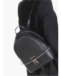 Michael Kors Sac à dos Rhea de taille moyenne en cuir - Noir