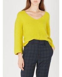 La Fee Maraboutee - Angora-blend V-neck Sweater - Lyst