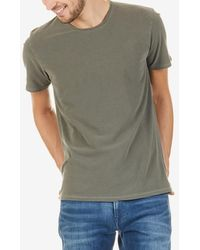 American Vintage Round-neck Cotton T-shirt - Green