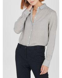 Ekyog - Organic Cotton Checked Shirt With Classic Collar - Lyst