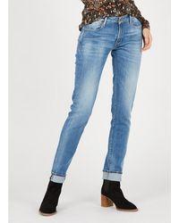 Le Temps Des Cerises Slim-fit Jeans With Regular Waist - Blue