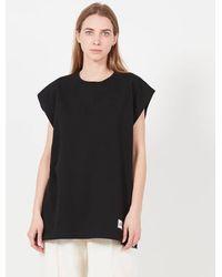 Margaux Lonnberg Tee-shirt col rond oversize sérigraphié en coton - Noir