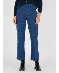 Nice Things Pantalón ancho de punto de jacquard - Azul