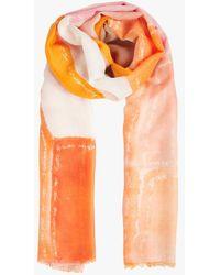 AU PRINTEMPS PARIS Foulard imprimé oran - Orange