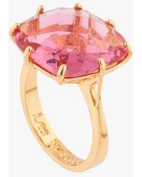 Les Nereides Bague pierre multicolore - Rose