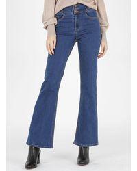Vila High-rise Bootcut Jeans Medium Blue Denim