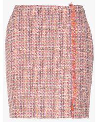 Sinequanone Jupe courte en tweed tweed rose