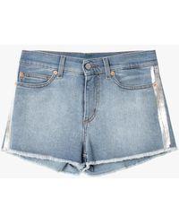 Zadig & Voltaire Short en jean bleu