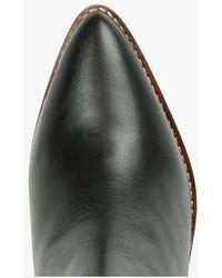 MAISON 123 Bottes en cuir façon santiags noir