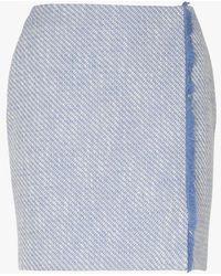Sinequanone Jupe courte en tweed tweed bleu