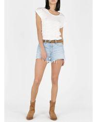 Levi's High waisted jeans-shorts luxor heat short - Blau