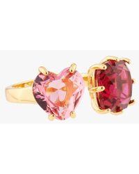 Les Nereides Diamantine And Heart Ring - Multicolour
