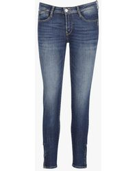 Le Temps Des Cerises - 7/8 Skinny Body-fit Stretch Jeans With Rhinestone - Lyst