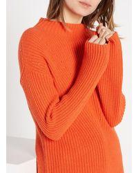 Nice Things Jersey de mezcla de lana con cuello alto - Naranja