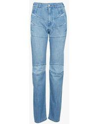 KENZO Jean droit en coton navy blue - Bleu