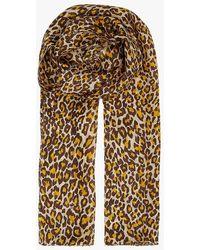 AU PRINTEMPS PARIS Foulard imprimé léopard en soie - Neutre