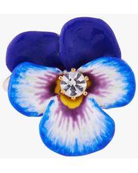 Les Nereides Pansy Ring Bleu - Blue