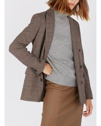 Gerard Darel Veste col tailleur à carreaux marron - Multicolore