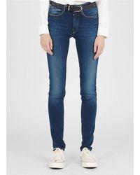 Le Temps Des Cerises High-rise Slim-fit Jeans - Blue