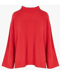 La Fee Maraboutee - Loose-fit Crepe Sweater With High Neck - Lyst