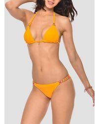Banana Moon Triangle Bikini Top Papaye Sensitive - Orange