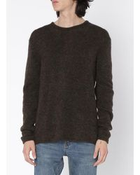 American Vintage Regular-fit Round-neck Mixed-knit Jumper - Black