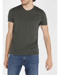 American Vintage Regular-fit Round-neck Cotton T-shirt - Green