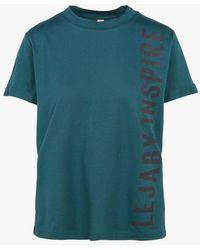 Maison Lejaby Tee-shirt col rond sérigraphié en coton mélangé - Bleu