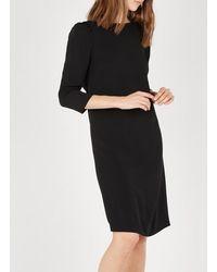 Tara Jarmon Straight Backless Dress Noir - Black