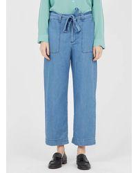 Gerard Darel Jean large 7/8 jeans - Bleu