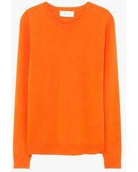 American Vintage Regular-fit Round-neck Wool Jumper - Orange