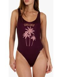 Banana Moon Embroidered One-piece Swimsuit