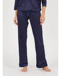 Lou Flowing Pyjama Trousers Marine - Blue