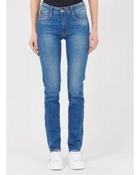 Le Temps Des Cerises High-waisted Push-up Slim Jeans - Blue