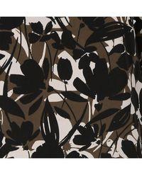 AU PRINTEMPS PARIS Top col classique fluide imprimé floral - Noir