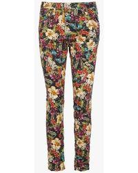 Please Pantalon droit taille normale imprimé floral - Multicolore