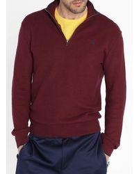 Polo Ralph Lauren Regular-fit-pullover aus pima-baumwolle mit troyer - Lila