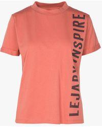 Maison Lejaby Tee-shirt col rond sérigraphié en coton mélangé - Multicolore