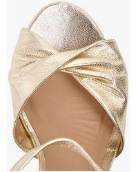 MAISON 123 Sandales hautes en cuir or - Multicolore