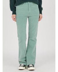Vila Bootcut Velvet Jeans Oil Blue