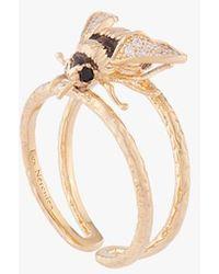 Les Nereides Adjustable Bumble Bee Ring Jaune - Multicolour