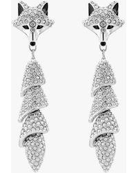 Swarovski Boucles d'oreilles drop polar bestiary - Blanc