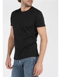 American Vintage Regular-fit Round-neck Cotton T-shirt - Black