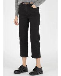 Vila High-rise Straight 5-pocket Jeans Black