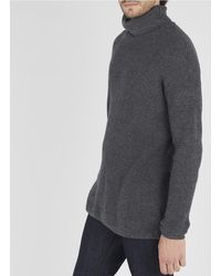 American Vintage Mixed-knit Turtleneck Jumper - Gray