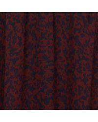 MAISON 123 Robe courte col v imprimée rose